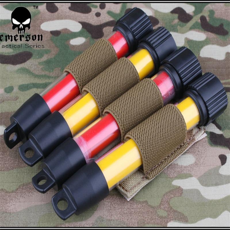 2017 Nylon Emersongear Tactical Elettronico Glow Stick Pouch B Modle Em6061 Sacchetto Utilità Militare Multicam Nero Prezzo Basso