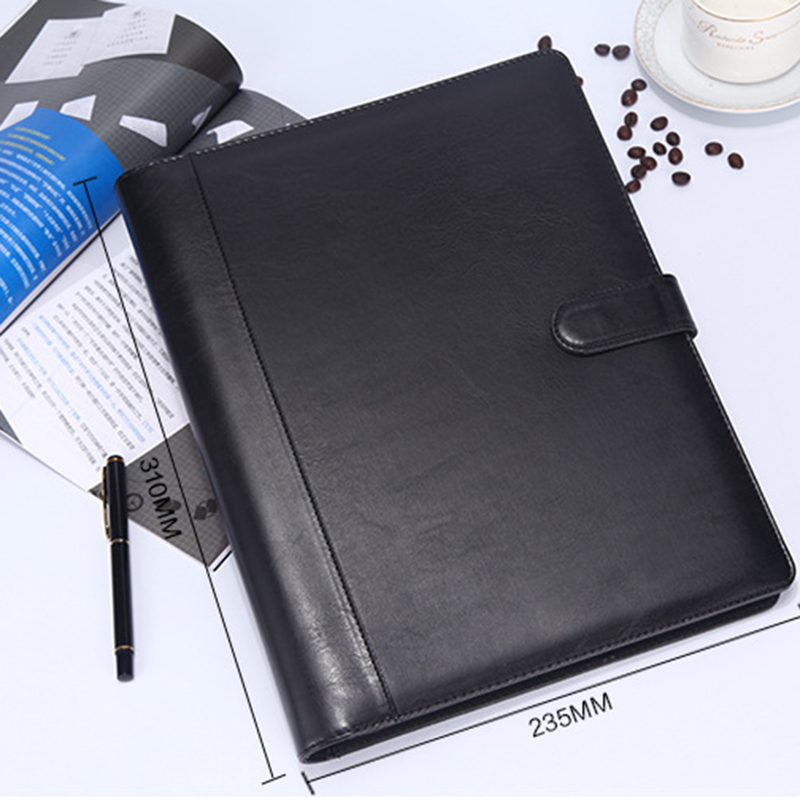 8 Packets File Folder A4 PU Ring Binder Display Book Folders With Calculator Document Bag Organizer Business Office Supplies-S vividcraft 12p lot office supplies folder pure color black white file folder paper a4 ring binder business document organizer a4