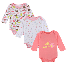 3 Pcs/lot Baby Rompers Newborn Jumpsuits Baby Girls Clothes Cotton Long Sleeve Girls Clothing Set Autumn Infant Romper 2 pcs lot baby clothes baby boy girls footed romper baby rompers 100% cotton sleep