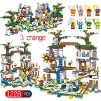 1228Pcs My World Building Blocks Compatible Legoing Minecrafted The Mine Cave Mine Slide Figures Bricks Toys For Children