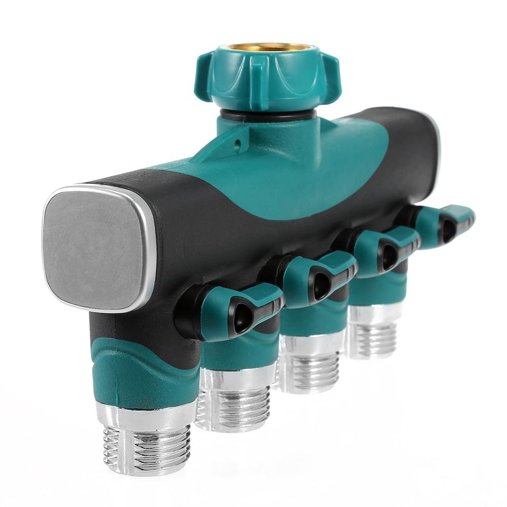 4 Way Hose Faucet Valve Per Shunt Hose Water Tap Converter Connector ...