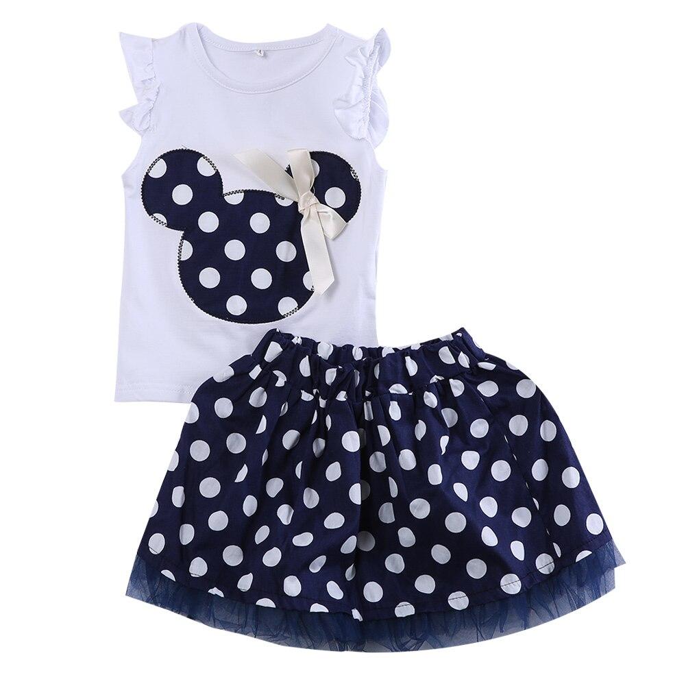 Kinder Babykleid Minnie Maus Tasche + Demin Fliegen Ärmeln Kleid ...