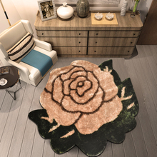 ALITEXTILEBTOC 100% Wool Plus Size Carpet For Home Parlor Rectangle Non-slip Soft Hand Carved Floral Tapis Salon