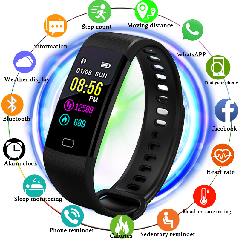 Confident Bangwei Smart Watch Color Screen Waterproof Women Smart Band Heart Rate Monitor Smartwatch Relogio Inteligente For Android Ios Watches