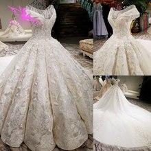 Aijingyu 웨딩 드레스 코르 셋 놀라운 신부 가운 여성 그리스 코드 레이스 가운 아랍 에미리트 가져온 된 웨딩 드레스
