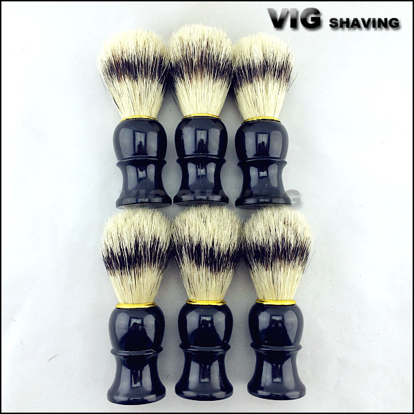 6pcs per lot Hot selling Black handle hog bristle wholesale shaving brush