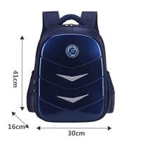 Children School Backpacks for Boys PU Leather Waterproof School Bags Large Capacity Primary Grade 1 6 Students Backpack Mochila