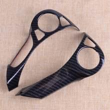 Citall 2 pçs/kit preto estilo de fibra carbono volante decorativo capa guarnição apto para honda accord 2014 2015 2016 2017