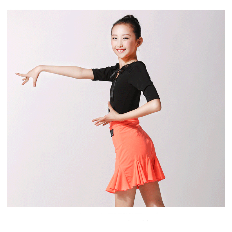 Picture of Girl Latin Dress Lace Latin Dance Dress Girls Modern Dance Costumes For Kids Latin Competition Dress Latin Salsa Dress