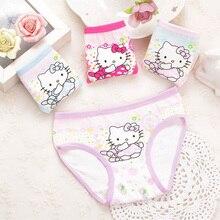 Girls Underwear Pants Briefs Child Kids Cotton Cartoon 4piece/Lot