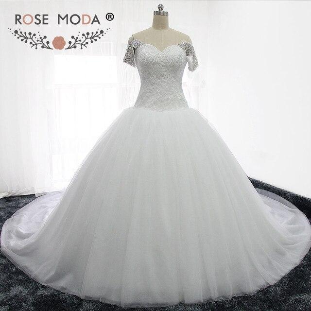 Rose Moda Luxus Puffy Hochzeit Ballkleid Prinzessin Tüll Brautkleid ...