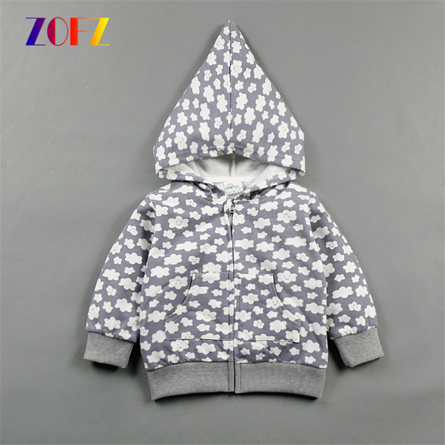 ZOFZ Baby coat unisex fashion cotton clothes for baby girls and boys Baby clothes outerwear 1 to 24 months Baby zipper coat