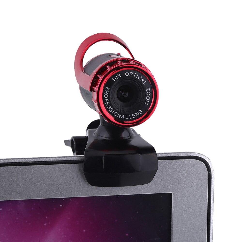 360 градусов 12 м Пиксели USB Камера HD веб-Камера С микрофоном Clip-On микрофон для компьютера PC ноутбук видео Камера серебро