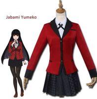 Yumeko Jabami Cosplay Kakegurui Red School Uniform Costume Anime Dress Up cosplay costume anime cosplay