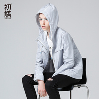 Toyouth Trench Coat 2017 Spring New Women Coats Loose Casual Solid Color Hooded Long Sleeve Overcoats