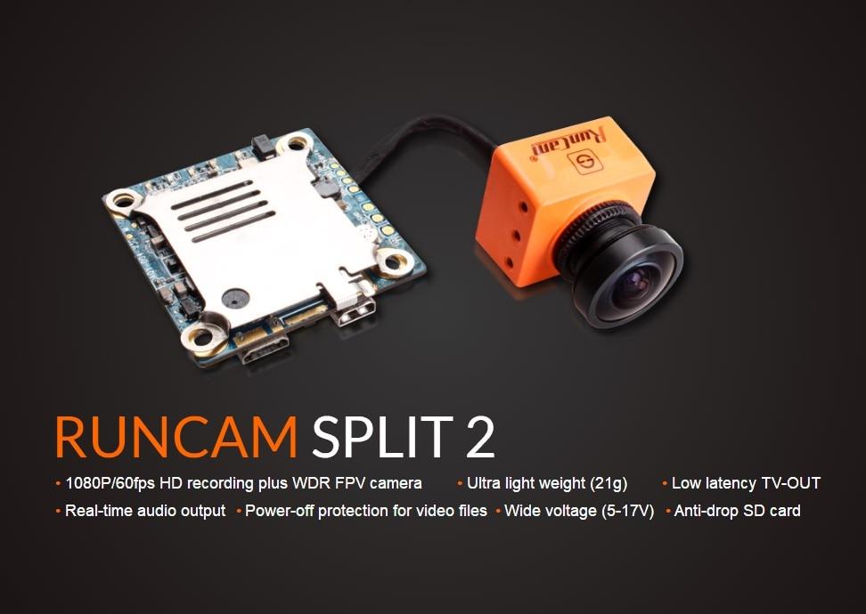 Runcam Split 2 G2 RunCam 3 for FPV HWDR FPV Camera 1080P 60fps HD Recorder WiFi Low Latency TV-out NTSC/PAL DC 5-17VRuncam Split 2 G2 RunCam 3 for FPV HWDR FPV Camera 1080P 60fps HD Recorder WiFi Low Latency TV-out NTSC/PAL DC 5-17V