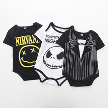 Summer Fashion Baby Boys Halloween One-piece Bodysuit Mommy's Little Nightmare Print Baby Gentleman Jumpsuit Clothes Outfit DS9 summer fashion baby boys halloween one piece bodysuit mommy s little nightmare print baby gentleman jumpsuit clothes outfit ds9
