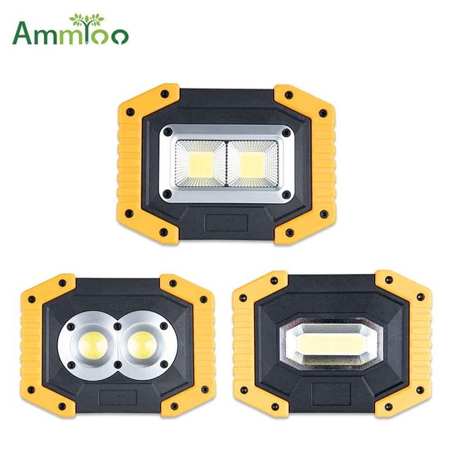Us 12 65 24 Off Ammtoo Led Work Light Rechargeable Portable Led Cob Magnetic Spotlight Waterproof Working Lamp Light For Hunting Camping Home In