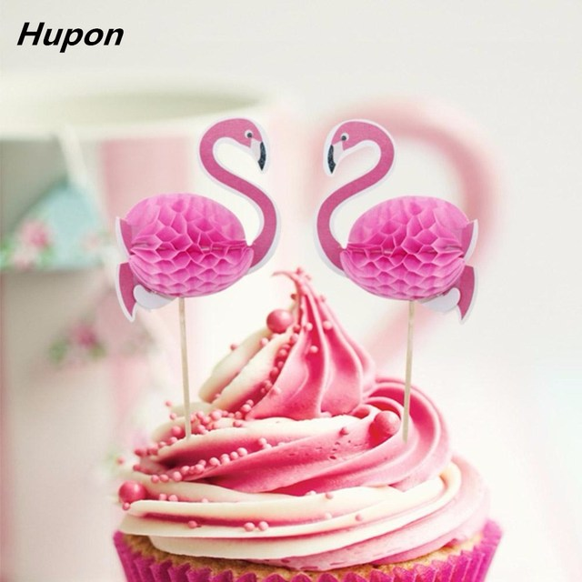 Us 2 6 12pcs Birthday Party Decorations Adult Flamingo Cake Topper Wedding Diy Cupcake Toppers Kids Cake Birthday Event Party Supplies In Cake