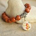 Civet gatos goldstone pedra natural pulseiras charme para as mulheres jóias legal bohemian presentes de natal pulseiras amor do vintage