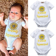 Fashion Toddler Newborn Baby Boys Girls White Cartoon Printed Bodysuit Cotton Jumpsuit Sleepsuit Outfits Clothes