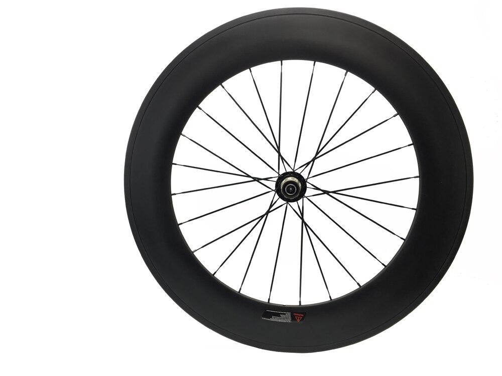 Carbon Bike Wheel 88mm Clincher Road Bicycle Wheel Novatec F482SB Road Hub Mac cn 494 or