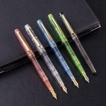 5 шт. набор Wing Sung 3001 авторучка цветная прозрачная с чернилами сменный конвертер EF/F 0,38/0,5 мм для письма подпись в офисе