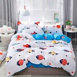 Solstício casa têxtil outono dark-color flor série roupa de cama 4 pçs conjuntos cama conjunto capa de edredão folha mans capa conjunto