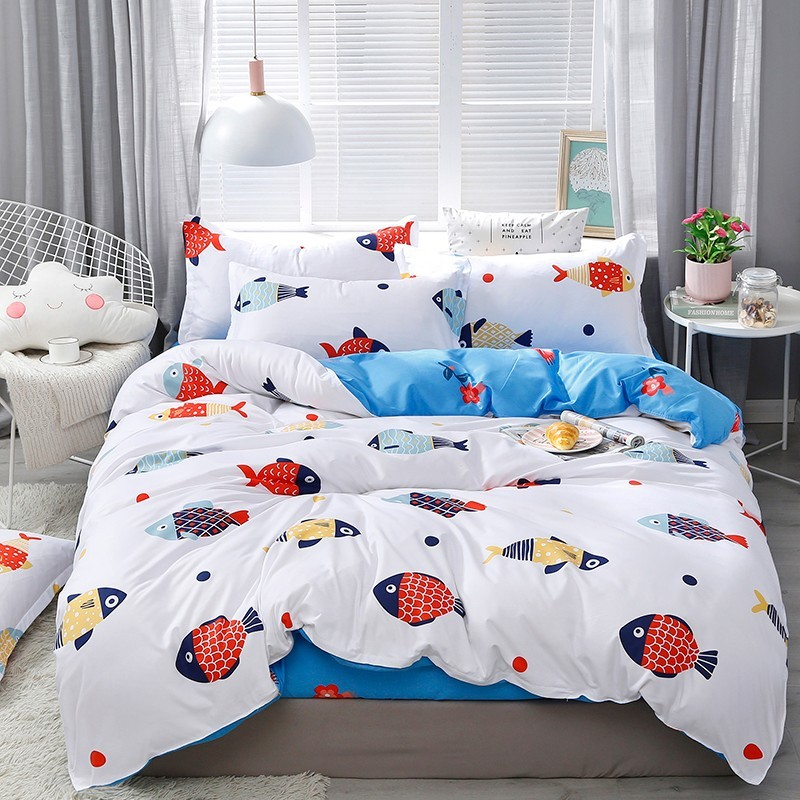 Solstice Home Textile Autumn Dark-color Flower Series  Bed Linens 4pcs Bedding Sets Bed Set Duvet Cover Bed Sheet Mans Cover Set