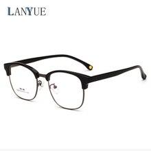 5f4188e9cc0f3 2018 óculos Ópticos óculos de armação mulheres homens óculos metade do  quadro transparente limpar lens óculos TR 90 óculos de ti.