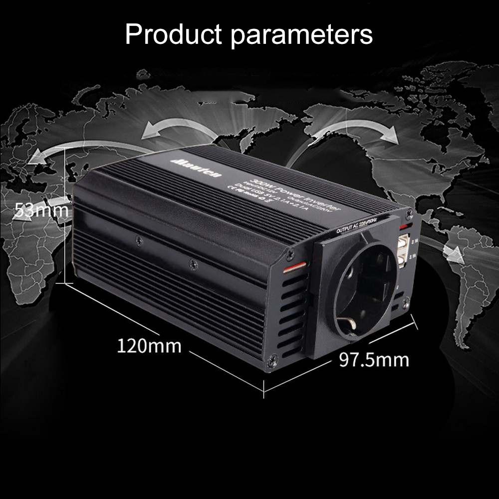 Image 5 - 300W Power Inverter 12V to 220V Car Inverter Cigarette Lighter Socket and 2 Clips 12v 220v Inverter with Dual USB Ports-in Car Inverters from Automobiles & Motorcycles