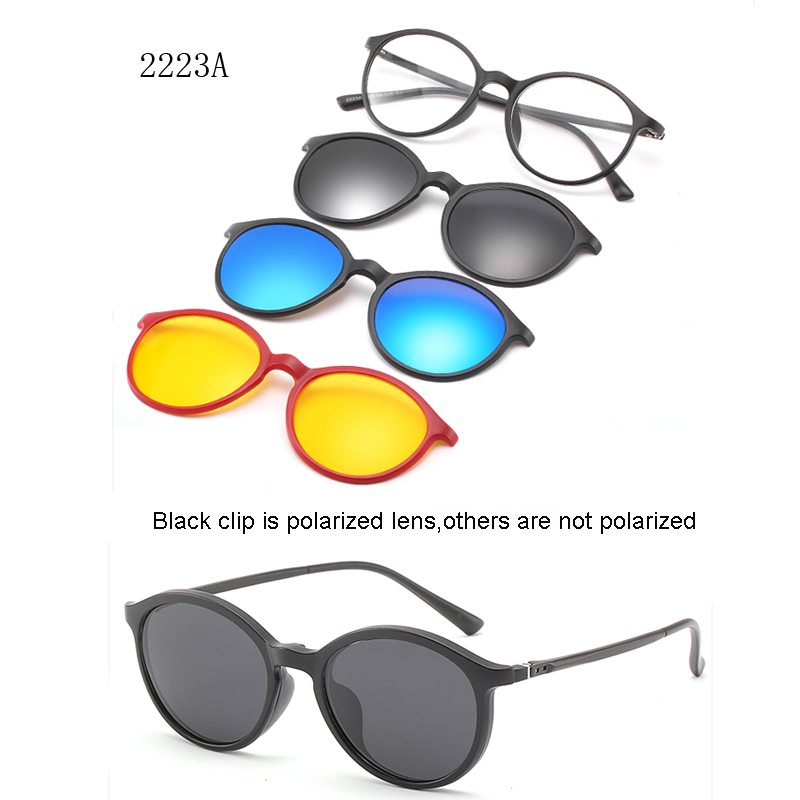 <font><b>5</b></font> lenes <font><b>Magnet</b></font> <font><b>Sunglasses</b></font> <font><b>Clip</b></font> polaroid Mirrored magnetic <font><b>Sunglasses</b></font> <font><b>clip</b></font> on glasses Men Polarized Custom Prescription Myopia image