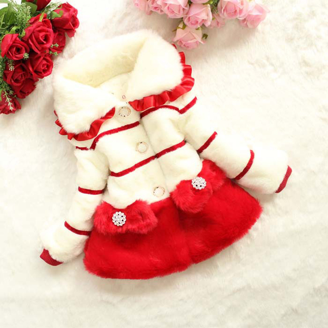 Baby Winter Cotton Coat Baby Girls Candy Cute Thick Down Minnie Outerwear Snow Fabric Princess Infant Warm Jacket Clothing GH293