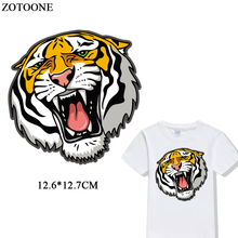ZOTOONE Tiger Patch Iron On Transfer Animal Patches For Clothing DIY T-shirt jacket  Accessory Decoration Appliqued Heat Press D flyingbee diy heat transfer patches weird thing iron on patches for clothing t shirt decoration heat press appliqued x0657