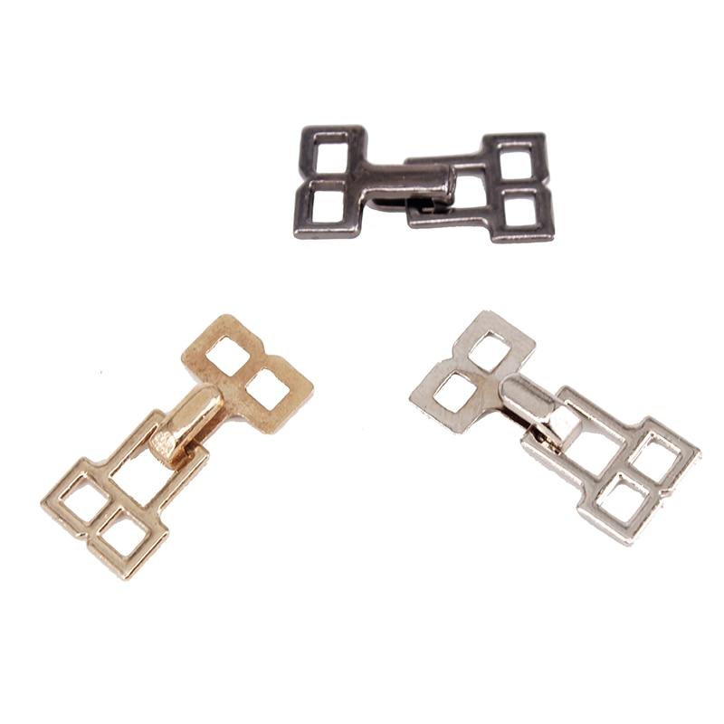 100set Gold Metal 22mm X 10mm Closure Waist Extender Hooks & Eyes Clasps Sewing Garment Clasps Hooks For Bra Swimsuit Nk286