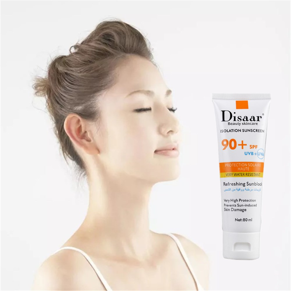 DISAAR Face Isolation Sunscreen CC Cream SPF90++ Concealer Foundation Makeup Waterproof Whitening Nude Primer Base Cosmetics