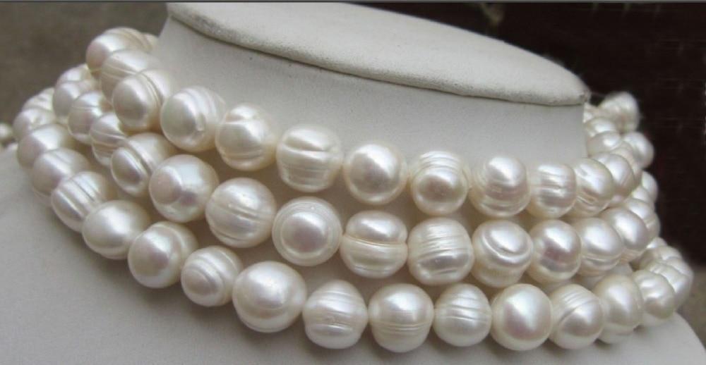 df95f0e78cdb Envío libre AAA + HGY + COMO Enorme 9 10mm Blanco mar del sur Natural  Collar de Perlas Cultivadas 80