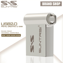Suntrsi USB Flash Drive 64GB Mini Metal USB Stick Pen Drive High Speed Pendrive Customized Logo USB Flash Real Capacity