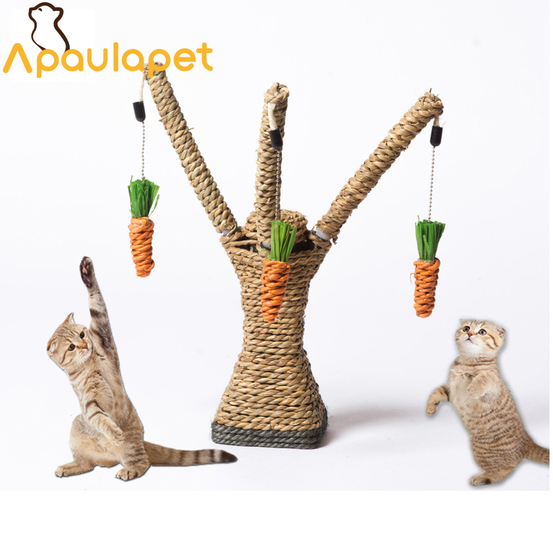 Cat Toy Interactive Tree Tower Shelves Climbing Frame Cat Scratching Post Sisal Rope With Cat Tooth Cleaning Chew Radish