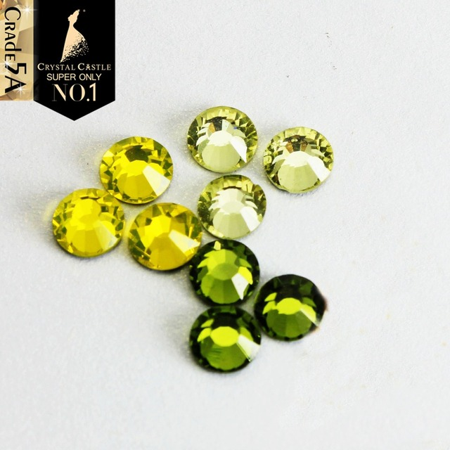Crystal Castle Jonquil Olivine Citrine Glass Crystal Strass Flatback Stone  Glitter Hot Fix Rhinestone Hotfix For Women Shoes 9cfa07483f04