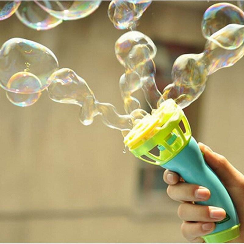 New Electric Bubble Gun Toys Bubble Machine Automatic Bubble Water Gun Essential In Summer Outdoor Children Bubble Blowing Toy