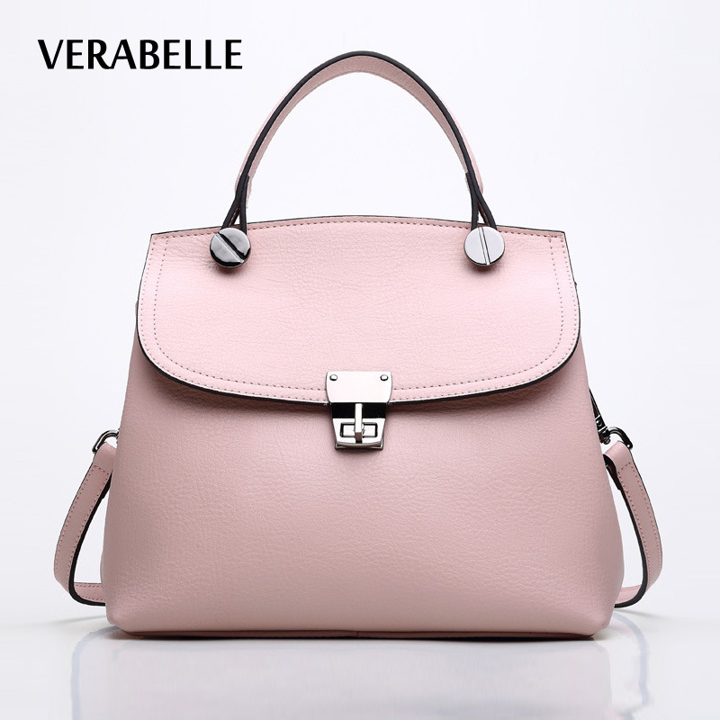 VERABELLE 2017 high quality cowhide split leather women lady purse and handbag casual crossbody messenger small female shell bag