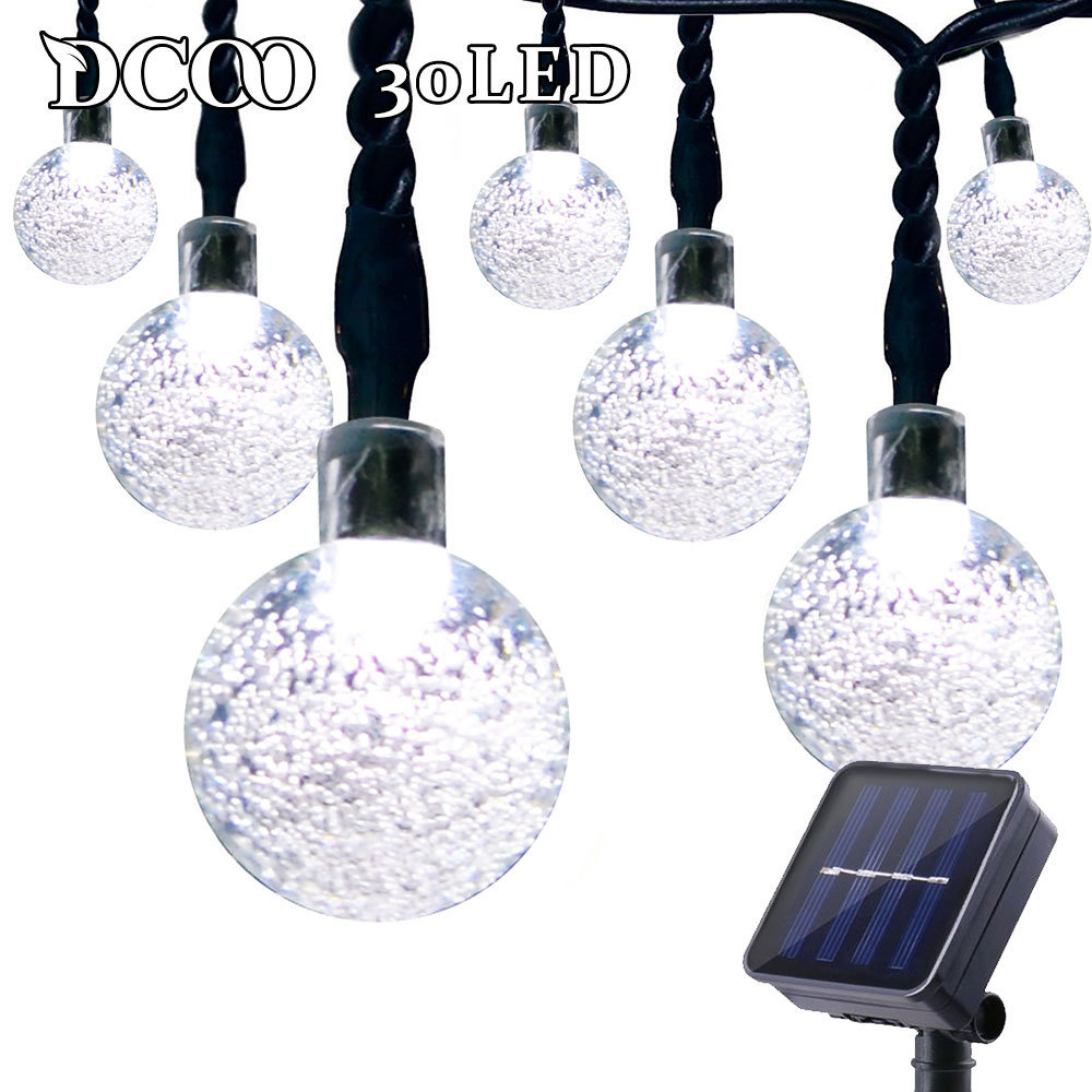 Dcoo Outdoor String Lighting Soldriven Globe Ball Lights 30 LED Sloar - Utomhusbelysning - Foto 2