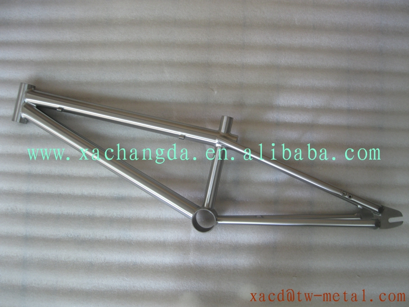 hot sale titanium bmx bicycle frame with bb 30 bb shell customized titanium bmx bike frame made xacd titanium bmx bike frame