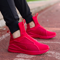 Invierno de La Manera de Los Hombres Zapatos de Gamuza de Color Rojo Botas de Cuero de Los Hombres Causales Zapatos de Deporte Masculino Zapatos Zapatos Hombre Tenis Masculino Esportivo