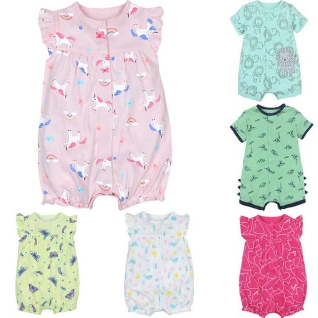 f05e5c6ec178 baby girl clothes newborn baby romper summer cotton short sleeve ...