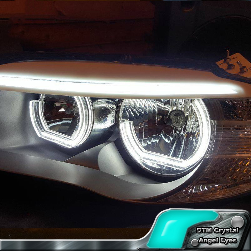 White Crystal DTM Style LED Angel Eyes Halo Rings Light kits For BMW 3 Series F30