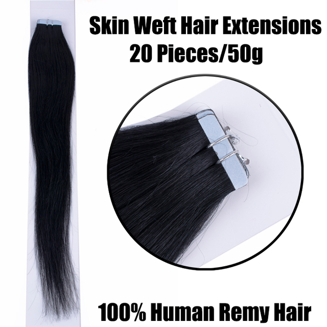 100 Tape In Human Hair Extensions Double Drawn Remy Tangle Free