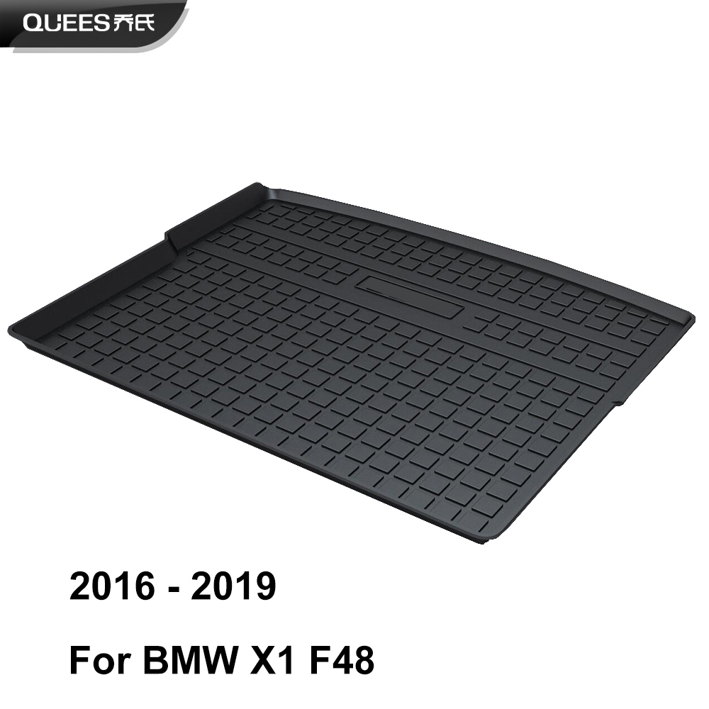 Image 3 - QUEES Custom Fit Cargo Liner Boot Tray Trunk Floor Mat for BMW X1 E84 F48 2009 2010 2011 2012 2013 2014 2015 2016 2017 2018 2019