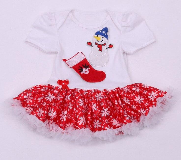 Xmas Kid Ruffle Dress Girl Baby Christmas maralı Rompers Yeni - Körpələr üçün geyim - Fotoqrafiya 3
